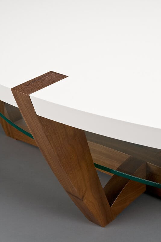 Swiss cream coffee table leg detail