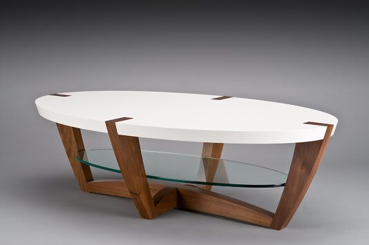 Swiss cream coffee table